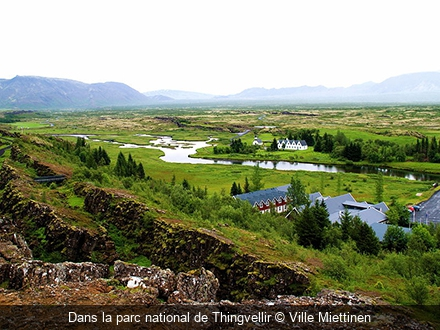 Dans la parc national de Thingvellir Ville Miettinen