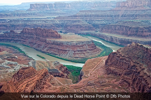 Vue sur le Colorado depuis le Dead Horse Point Dfb Photos
