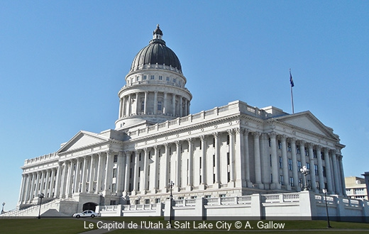 Le Capitol de l'Utah à Salt Lake City A. Gallow