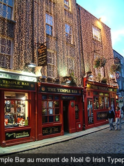 Temple Bar au moment de Noël Irish Typepad