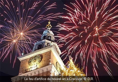 Le feu d'artifice du nouvel an à Cracovie  D.R.