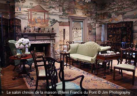 Le salon chinois de la maison d'Henri Francis du Pont Jim Photography