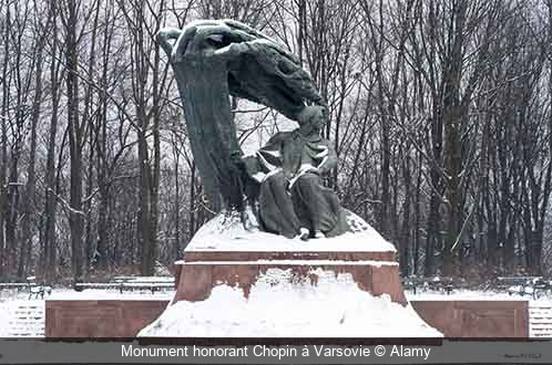 Monument honorant Chopin à Varsovie Alamy