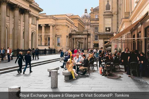 Royal Exchange square à Glasgow Visit Scotland/P. Tomkins