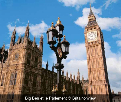 Big Ben et le Parlement Britainonview