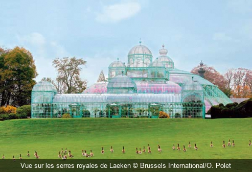 Vue sur les serres royales de Laeken Brussels International/O. Polet