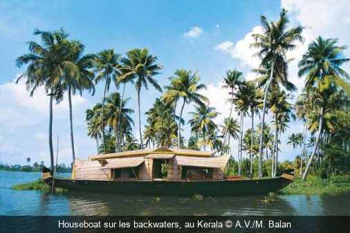 Houseboat sur les backwaters, au Kerala A.V./M. Balan