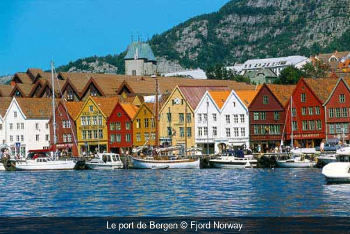 Le port de Bergen Fjord Norway