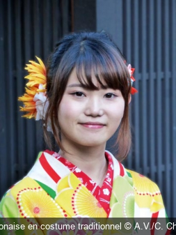 Japonaise en costume traditionnel A.V./C. Chenu