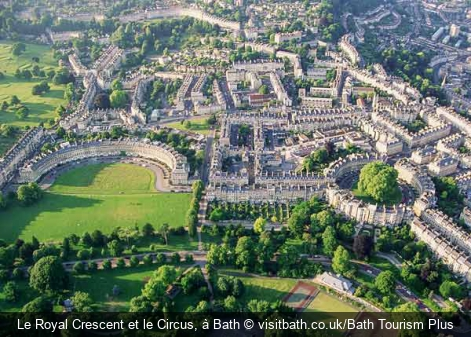Le Royal Crescent et le Circus, à Bath visitbath.co.uk/Bath Tourism Plus
