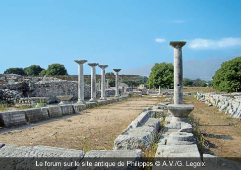 Le forum sur le site antique de Philippes A.V./G. Legoix